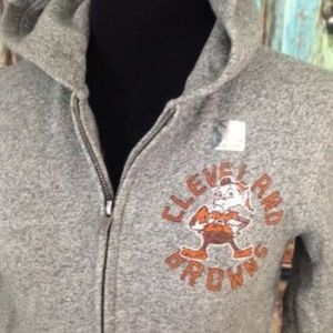 7d5412646ece Junk Food Clothing Shirts   Tops - NFL Cleveland Browns Gray Hoodie Youth  ...